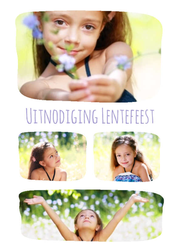 Fotokaarten - Lentefeest collage 4 foto's - BK
