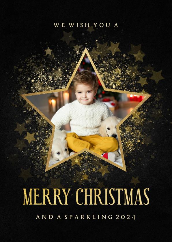 Fotokaarten -  Stijlvolle fotokaart gouden ster