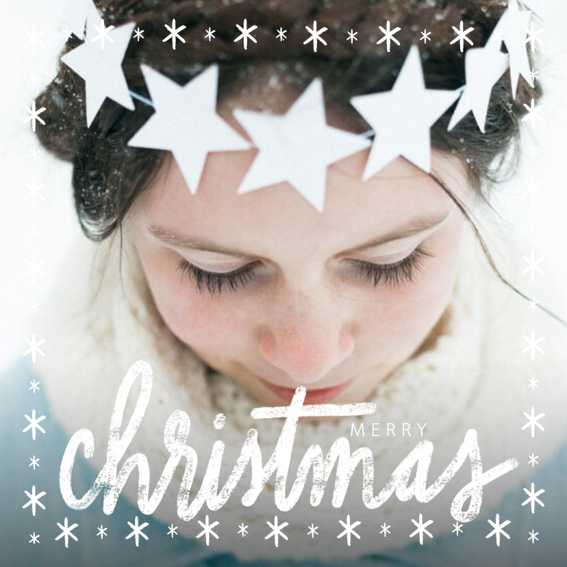 Fotokaarten - Winterse fotokaart merry christmas grote foto