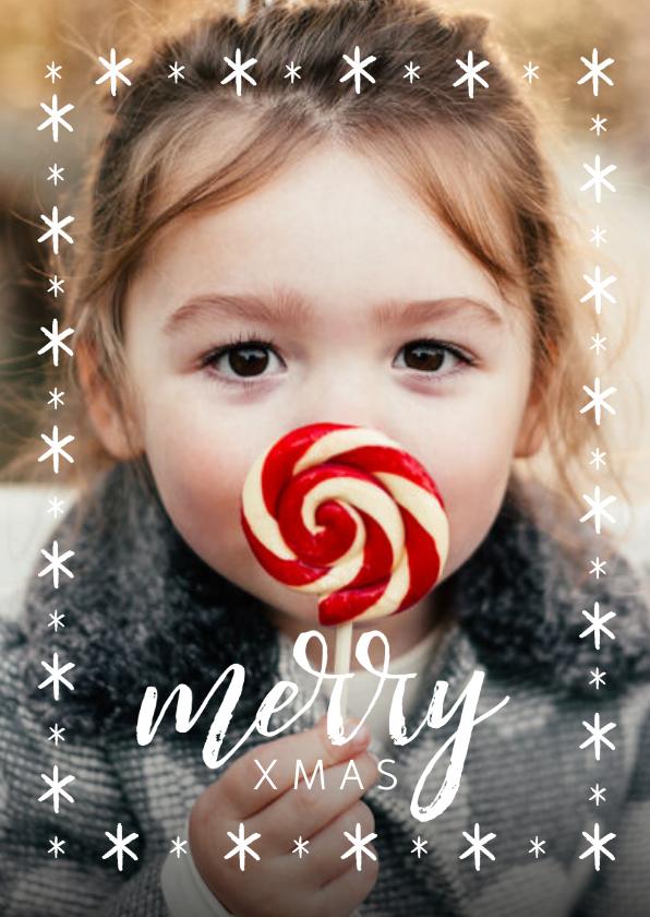 Fotokaarten - Winterse fotokaart met grote foto en merry x-mas