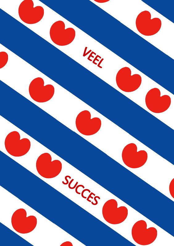 Fryske kaartsjes - Friesland vlag Hartjes