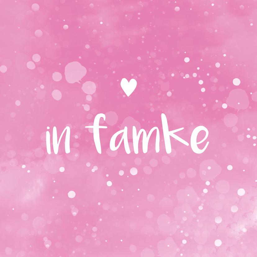 Fryske kaartsjes - Fryske felicitatie kaart geboorte famke