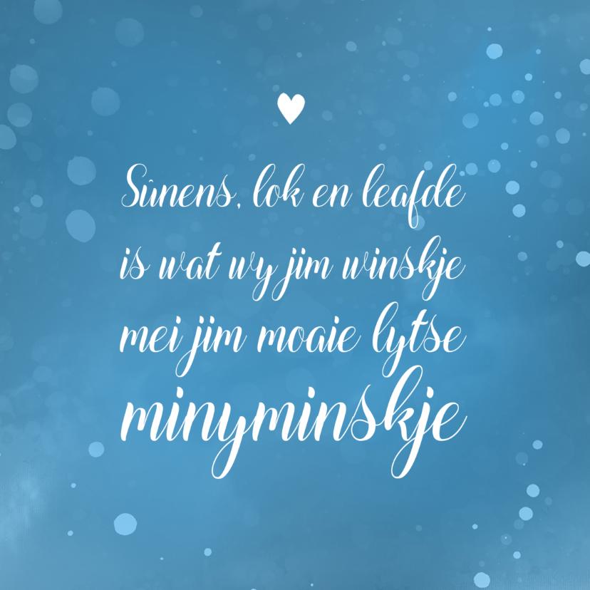 Fryske kaartsjes - Fryske felicitatie kaart geboorte jongen