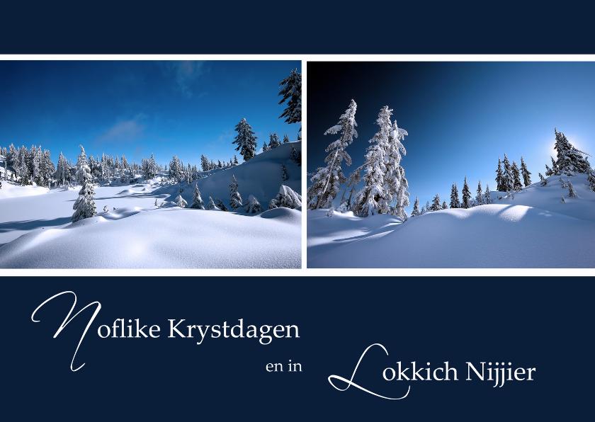 Fryske kaartsjes - Noflike Krystdagen en in Lokkich Nijjier