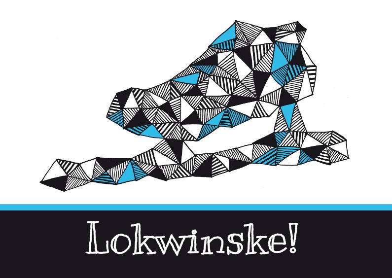 Fryske kaartsjes - Winterse felicitatie schaats