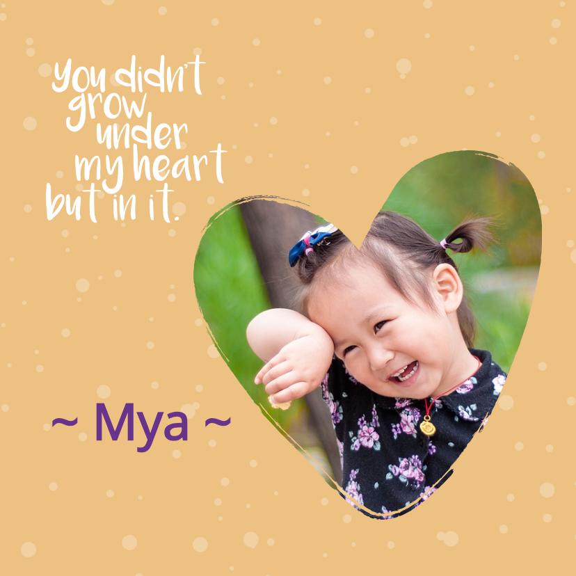 Geboortekaartjes - adoptie in mijn hart