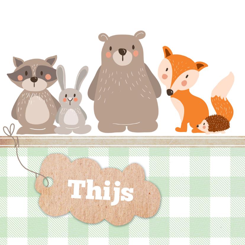 Geboortekaartjes - Bosdieren - Geboortekaart