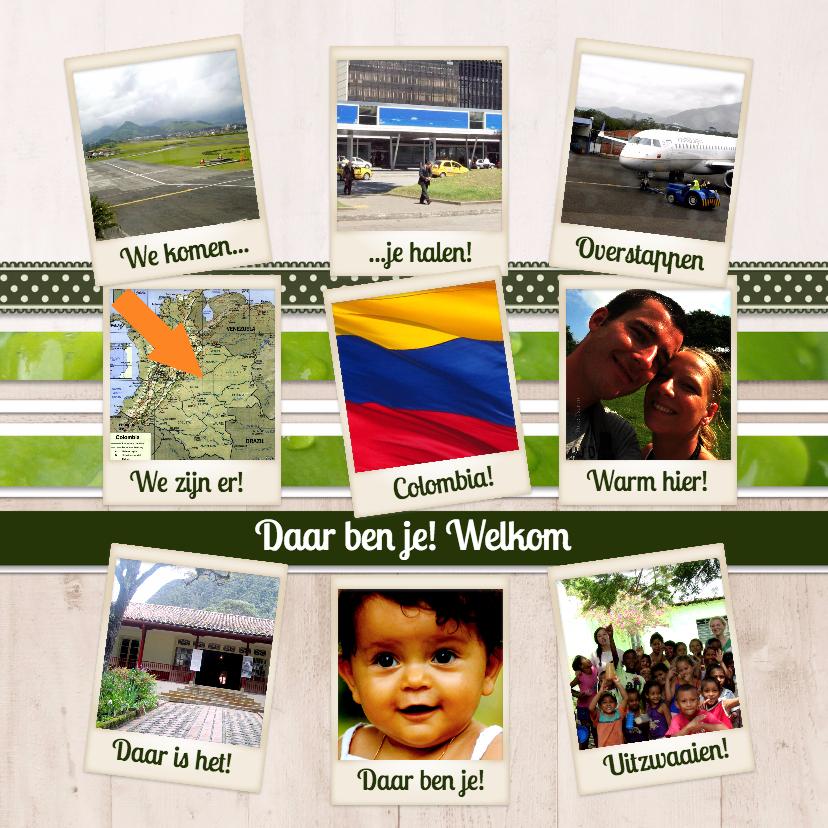 Geboortekaartjes - Collagekaart Adoptie - BK