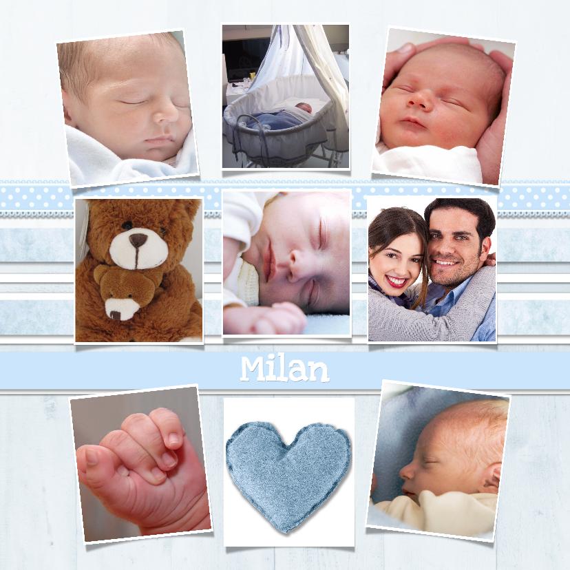 Geboortekaartjes - Collagekaart Jongentje - BK