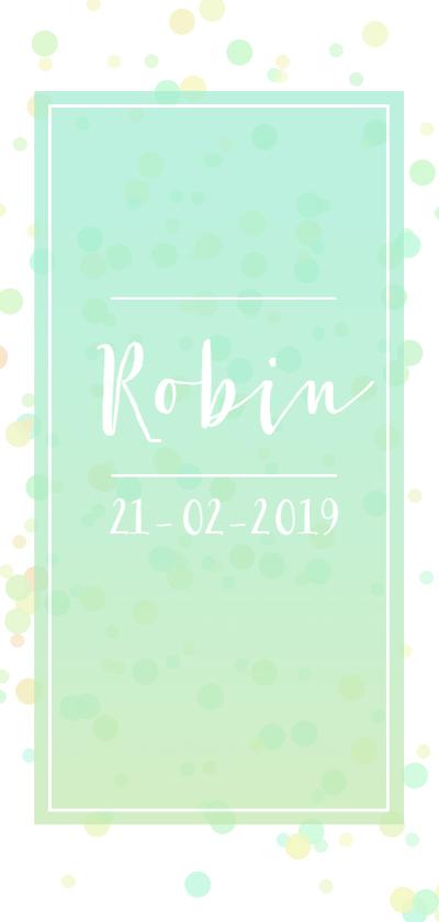 Geboortekaartjes - Confetti geboorte in lichte tinten