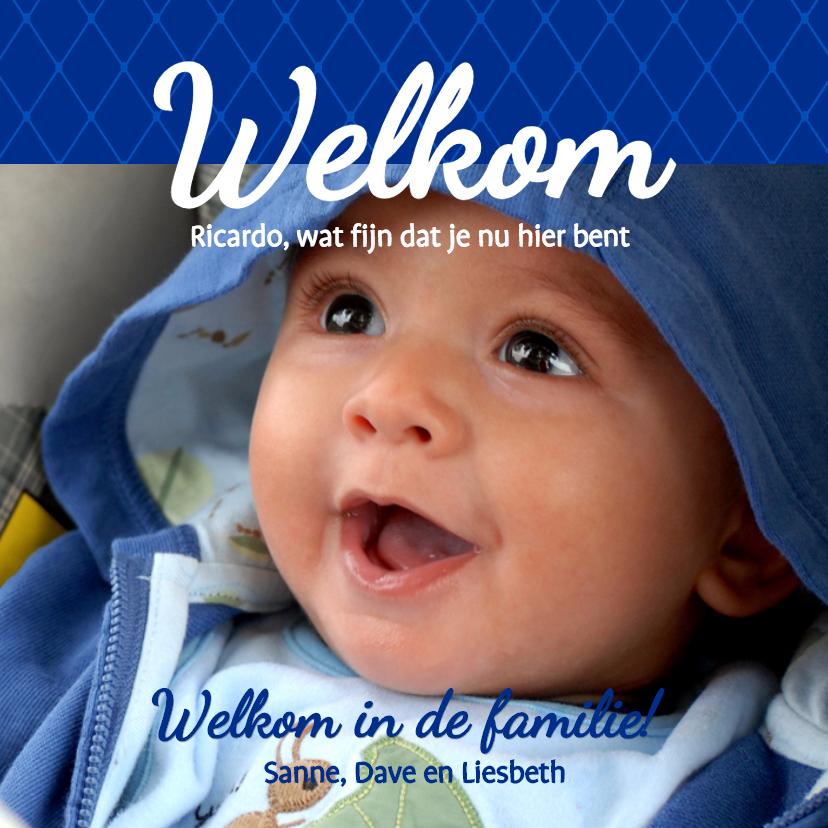Geboortekaartjes - Foto 4kant Welkom - BK