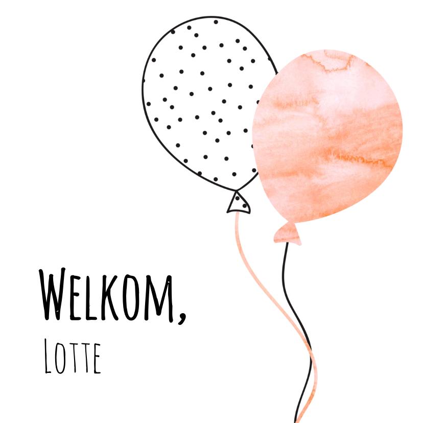 Geboortekaartjes - Geboorte aquarel ballon - SV