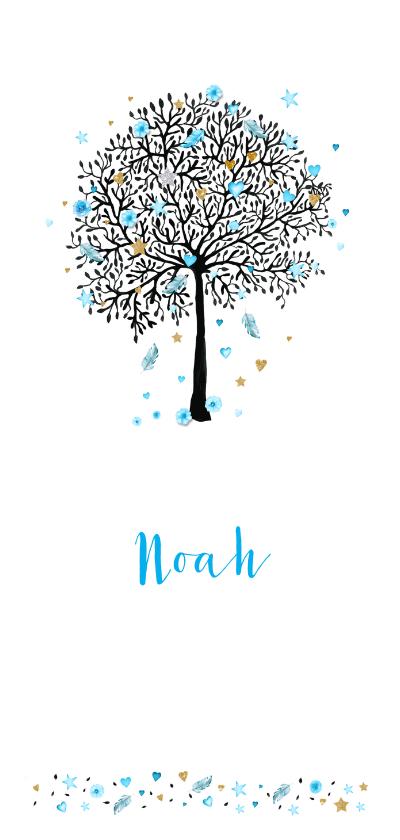 Geboortekaartjes - Geboorte boom jongen