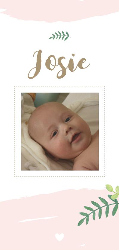 Geboortekaartjes - Geboorte - Botanisch, watercolour en foto