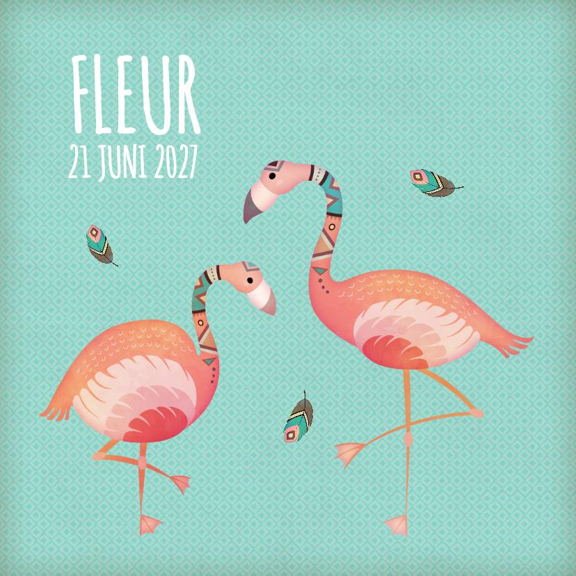 Geboortekaartjes - Geboorte Flamingo - BK