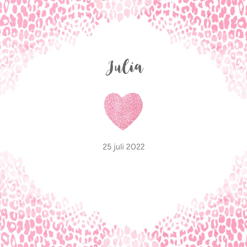 Geboortekaartjes - Geboorte hartje luipaard