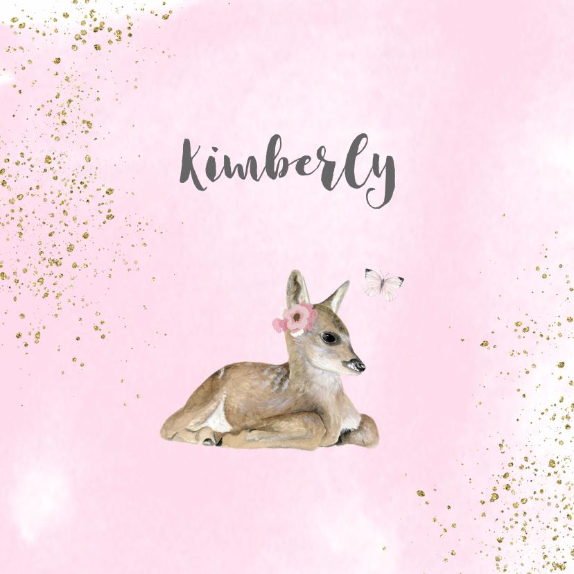 Geboortekaartjes - Geboorte hertje meisje