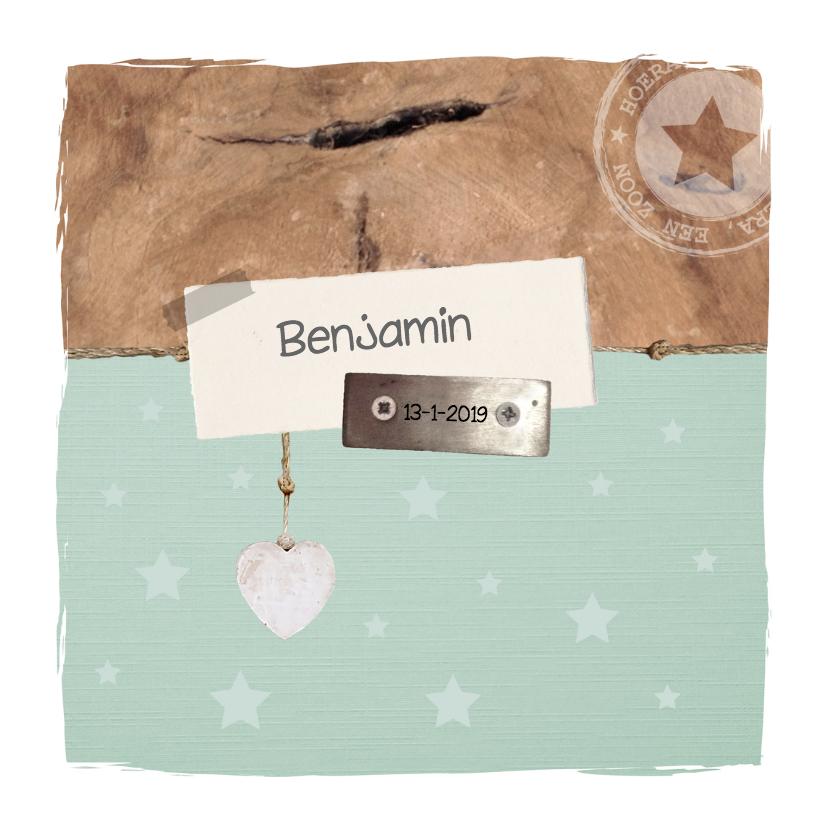 Geboortekaartjes - Geboorte - Hout, trendy, jongen