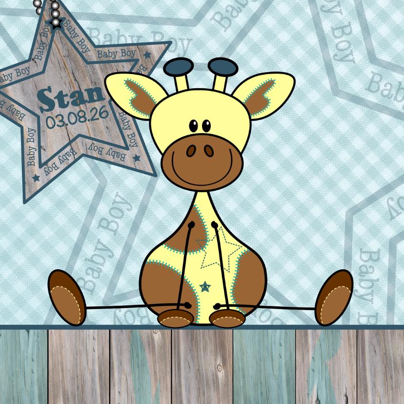 Geboortekaartjes - Geboorte kaartje Giraffe jongen