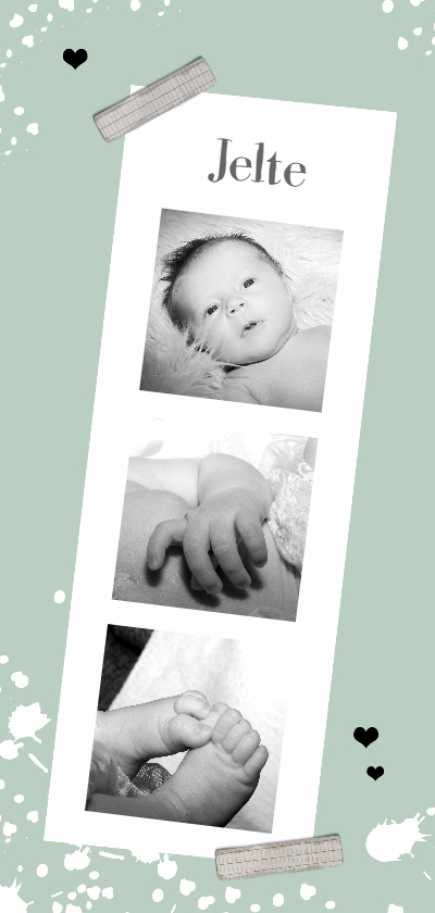 Geboortekaartjes - Geboorte Lang Jelte