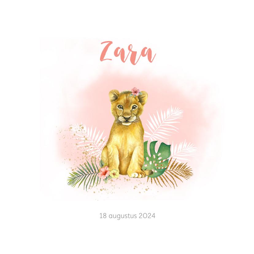 Geboortekaartjes - Geboorte leeuwtje meisje