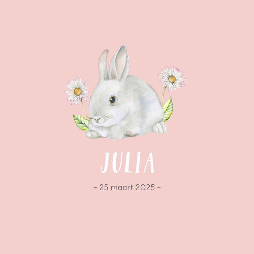 Geboortekaartjes - Geboorte lief konijntje