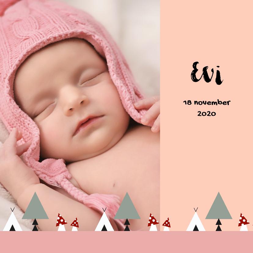 Geboortekaartjes - Geboorte meisje bos thema 2E