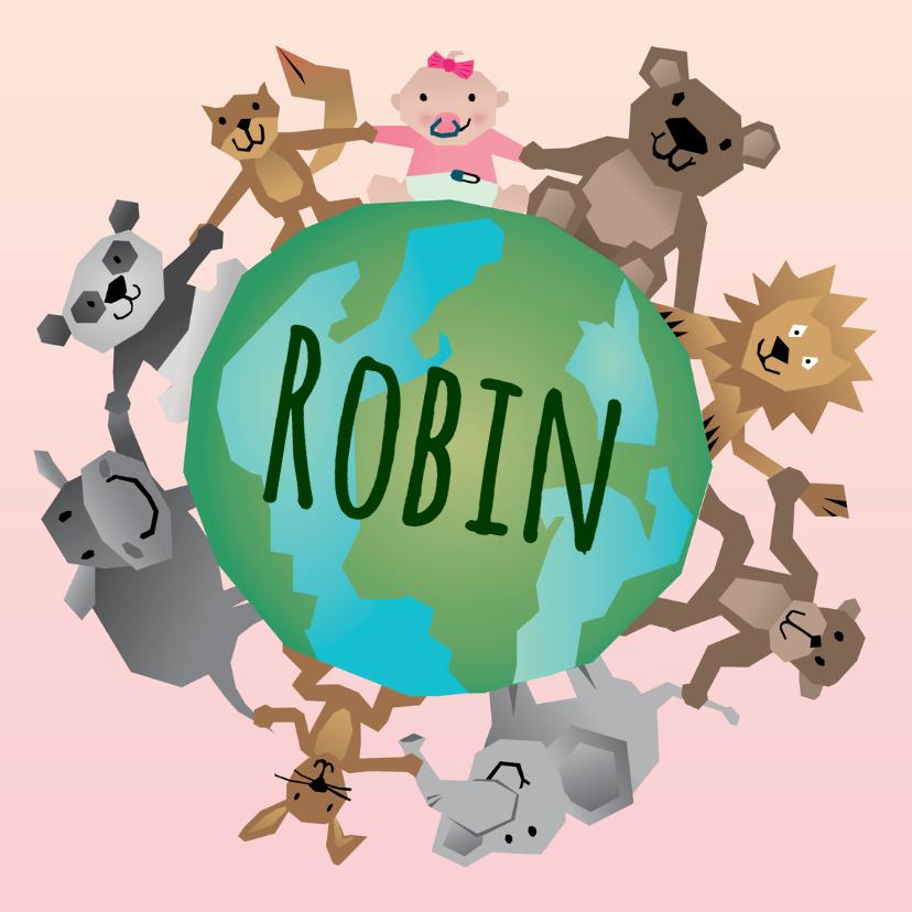 Geboortekaartjes - Geboorte meisje - Dierenwereld