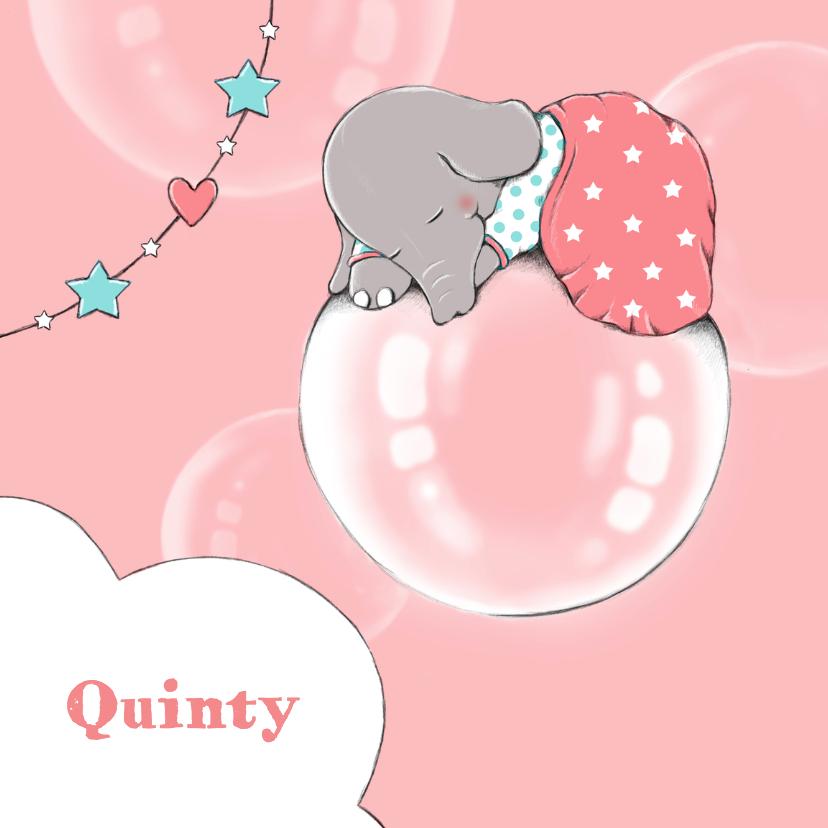 Geboortekaartjes - Geboorte olifant droom - IH