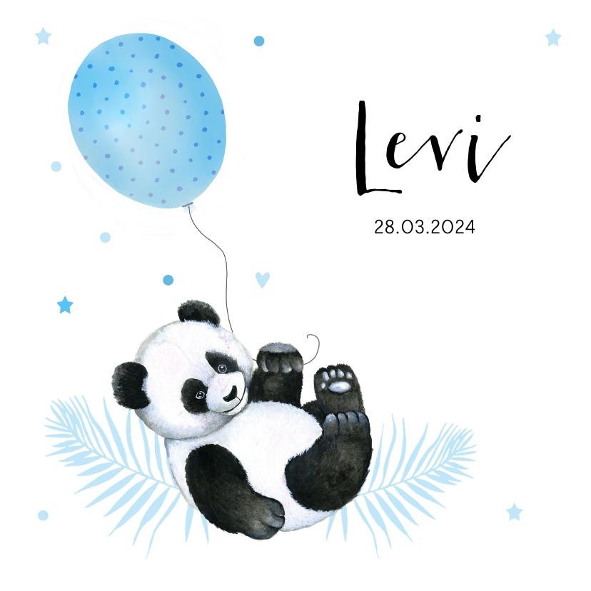 Geboortekaartjes - Geboorte panda ballonnetje