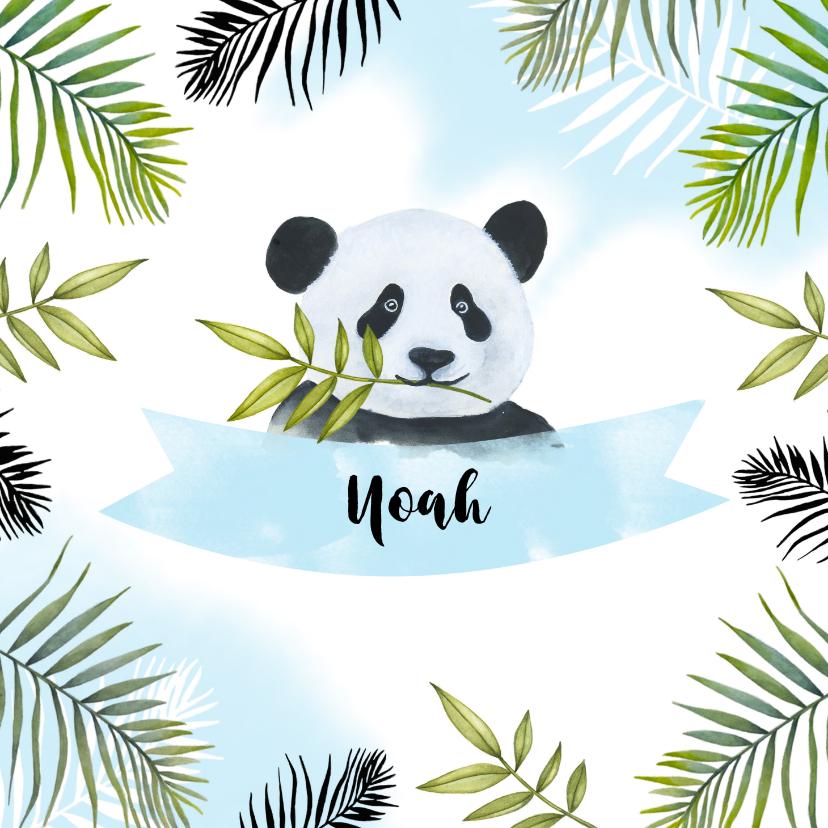 Geboortekaartjes - Geboorte pandabeertje tropisch