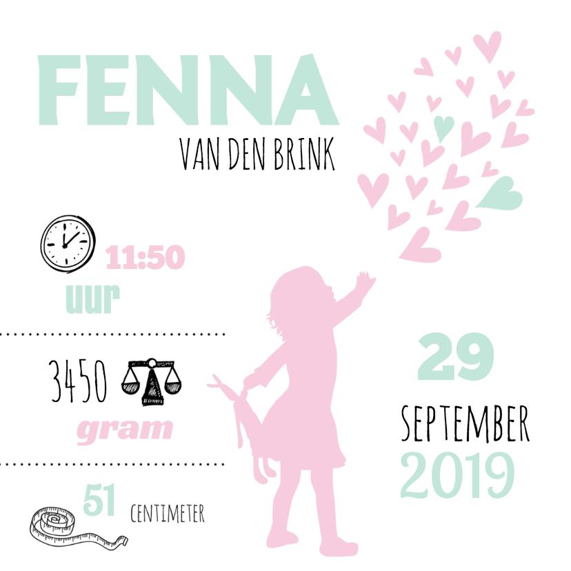 Geboortekaartjes - Geboorte silhouet fenna - B