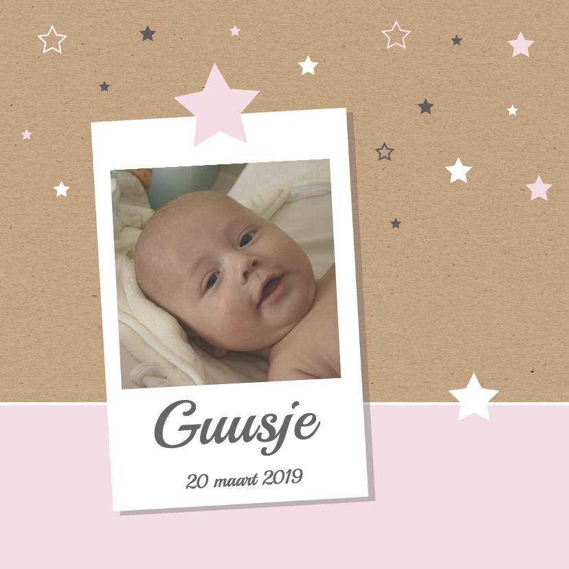 Geboortekaartjes - Geboorte- Sterren, foto, dochter