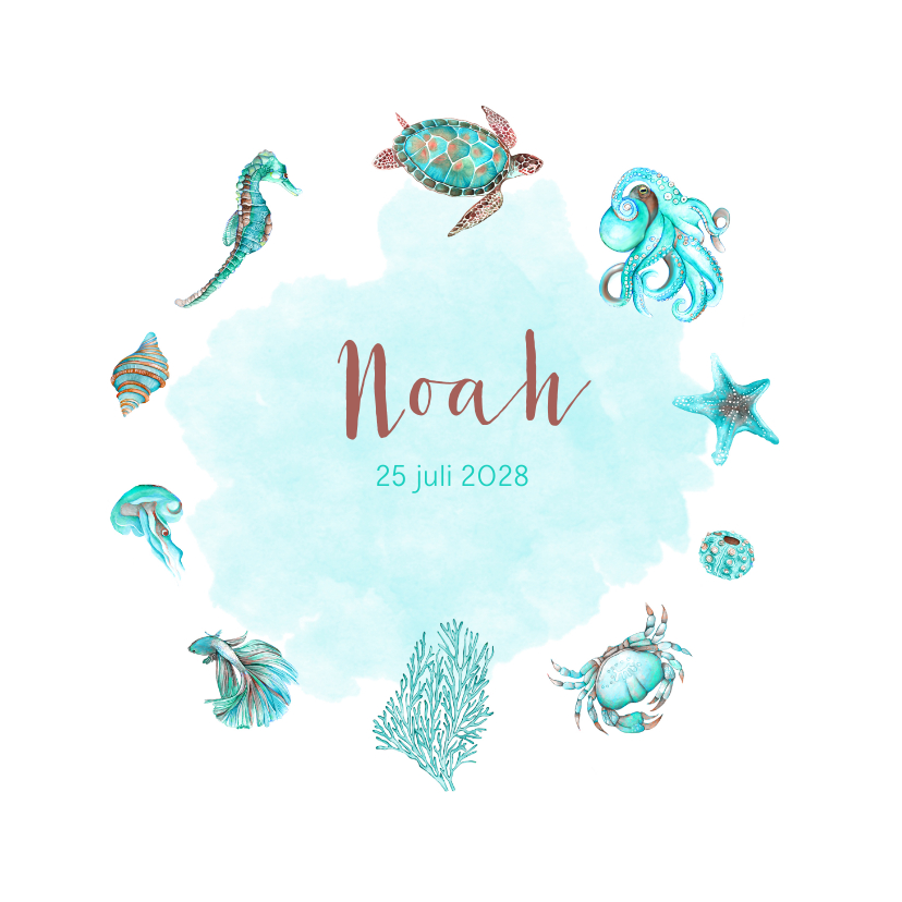 Geboortekaartjes - Geboorte zeedieren jongen