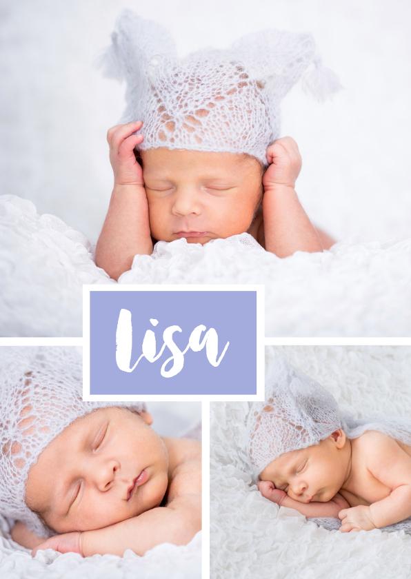 Geboortekaartjes - Geboortecollage - OT