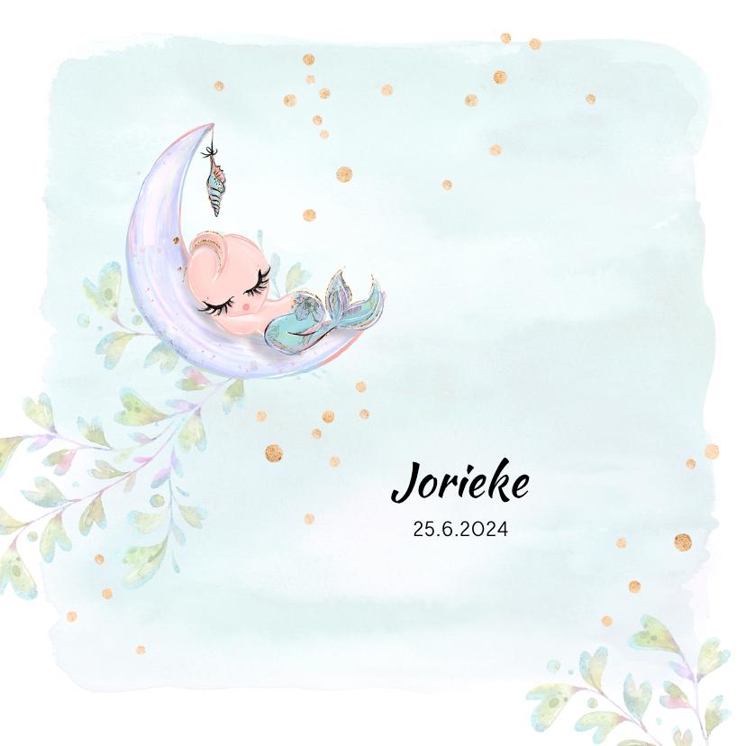 Geboortekaartjes - Geboortekaart baby-zeemeermin