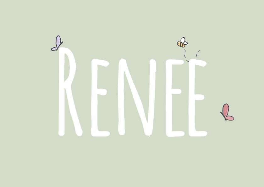 Geboortekaartjes - Geboortekaart Beestjes Renee LFZ