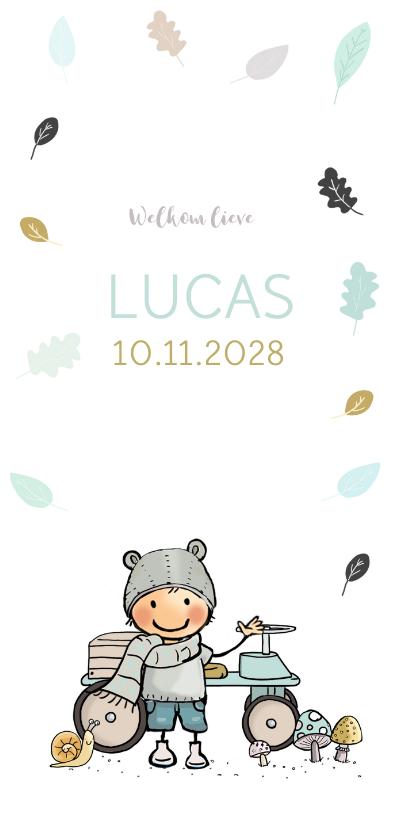 Geboortekaartjes - Geboortekaart herfstjongen av