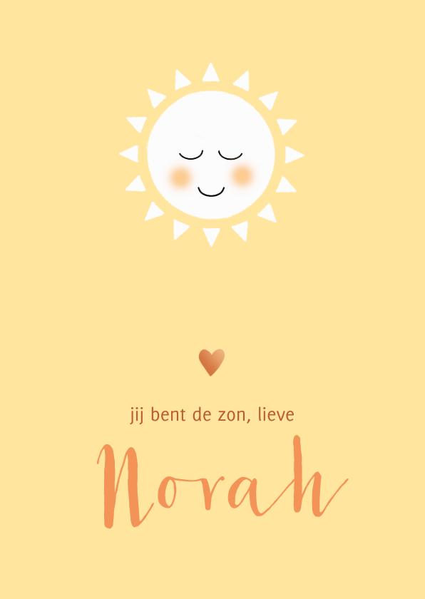 Geboortekaartjes - Geboortekaart jij bent de zon