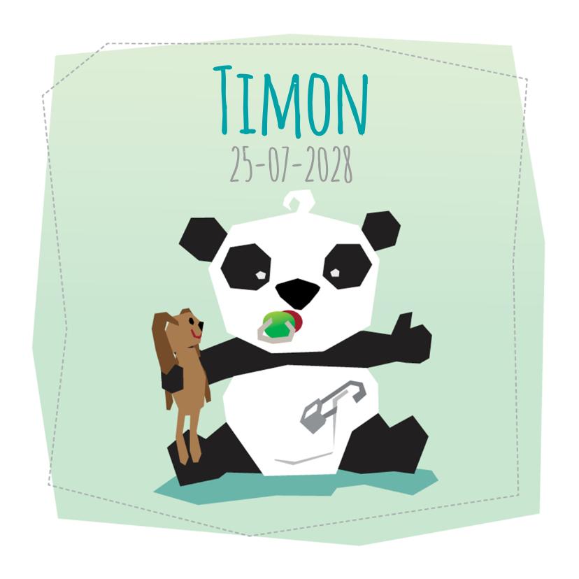 Geboortekaartjes - Geboortekaart Jongen - Panda