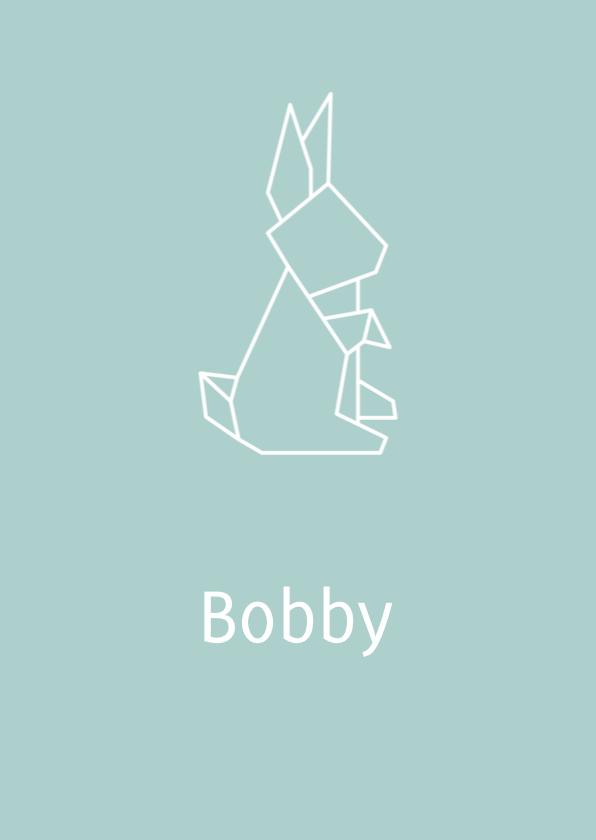 Geboortekaartjes - Geboortekaart Konijn 1
