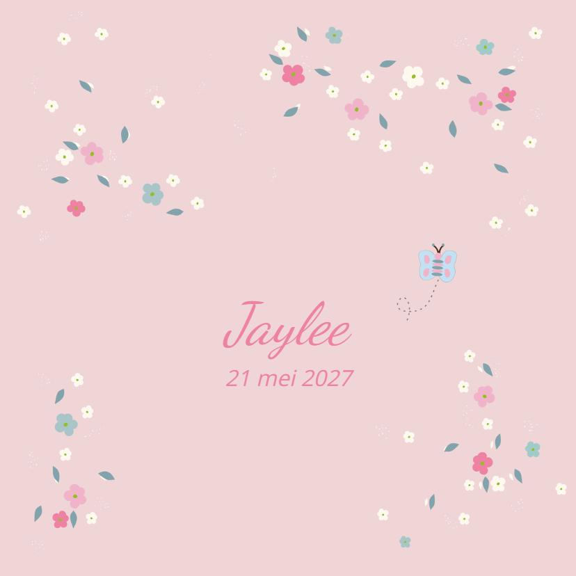 Geboortekaartjes - Geboortekaart lentebloesem Jayle