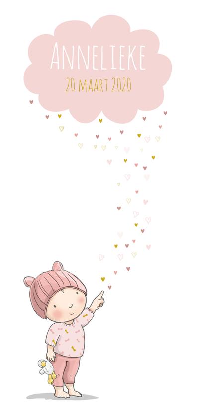 Geboortekaartjes - Geboortekaart meisje wolk av