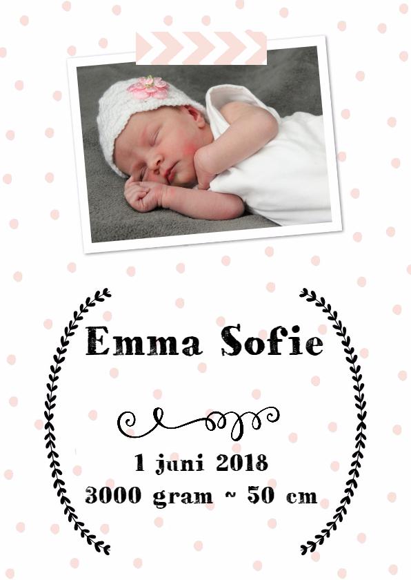 Geboortekaartjes - Geboortekaart Meisje - WW