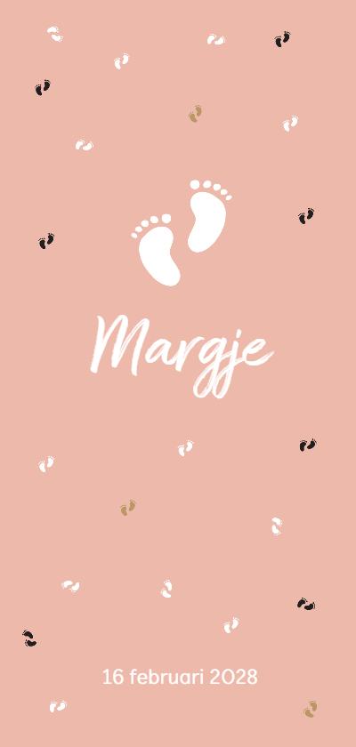 Geboortekaartjes - Geboortekaart meisjesvoetjes