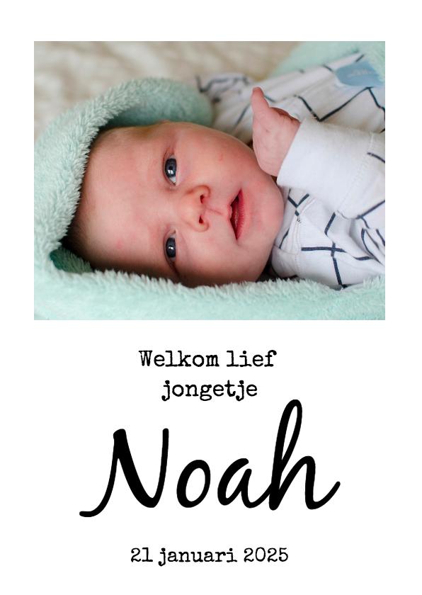 Geboortekaartjes - Geboortekaart met foto
