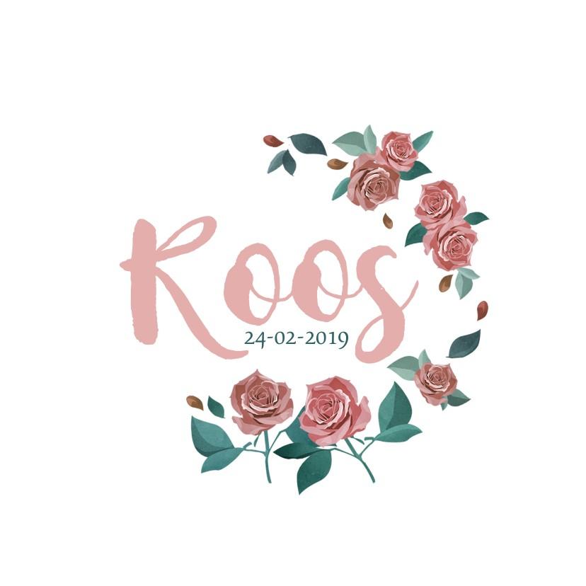 Geboortekaartjes - Geboortekaart met rozen
