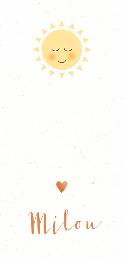 Geboortekaartjes - Geboortekaart ons zonnetje ben jij
