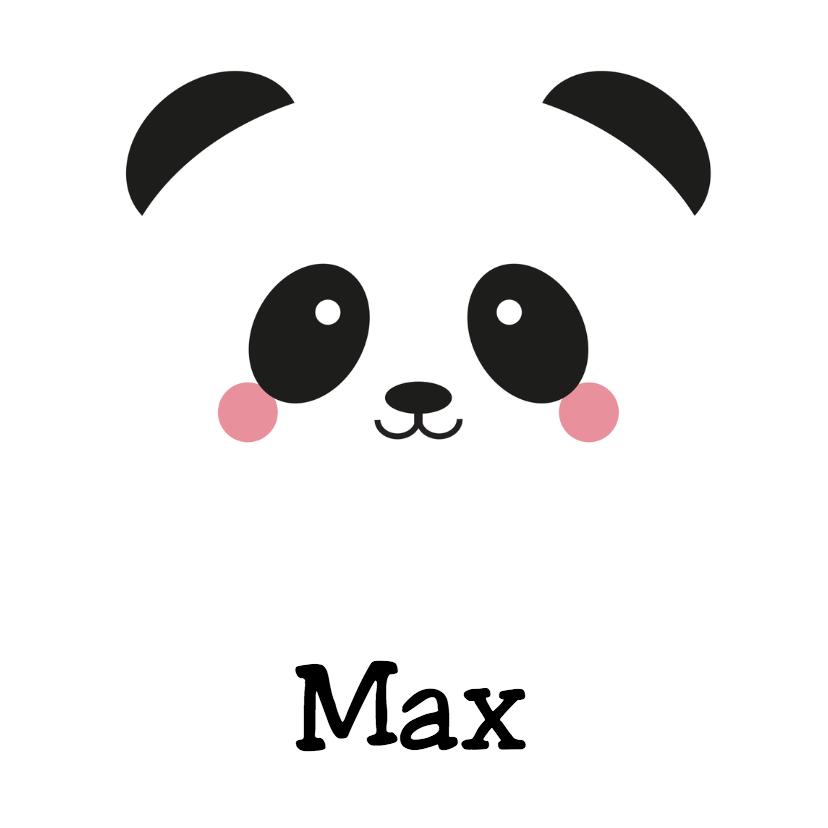 Geboortekaartjes - Geboortekaart Panda