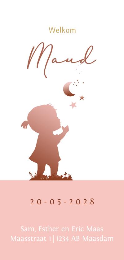 Geboortekaartjes - Geboortekaart silhouet kinderwagen av
